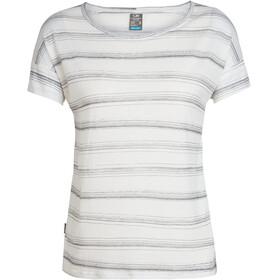 Icebreaker Via t-shirt Dames beige/grijs